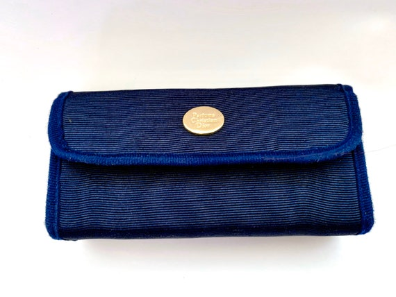 Vintage Dior, blue cosmetic bag, Christian Dior pe