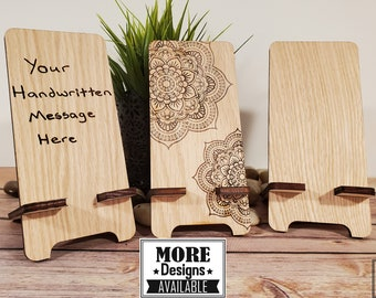 Mothers Day Gift Ipad stand Personalized iPhone stand Wooden phone stand Teacher/'s gift Phone holder Personalised Phone stand Mum