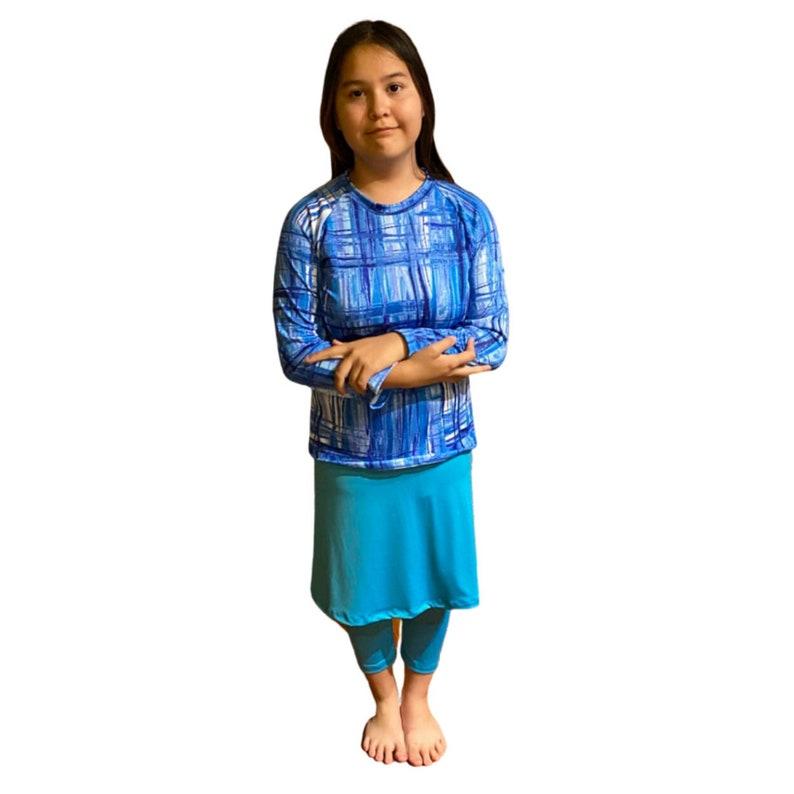 Mix /& Match Sz S-XXL Islamic Girls Burkini Complete Swim Set swim skirt with leggings Girls Modest Swimwear swim shirt Tznuit Swimsuit