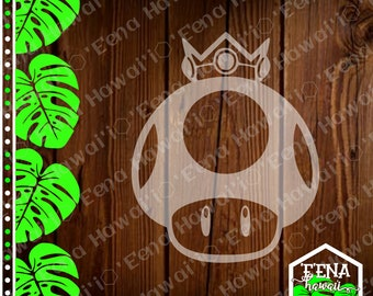 Golden Mushroom | Mushroom Decal | Mario | Mario Kart | Car Window Sticker | Flask Sticker | Car Decal | Phone Decal