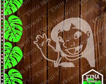 Lilo | Lilo Waving | Half Lilo Decal | Half Lilo | Car Window Sticker | Flask Sticker | Car Decal | Phone Decal