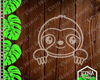 Peek a Boo Decal | Sloth | Cute Sloth | Peek a Boo Sloth | Car Window Sticker | Flask Sticker | Car Decal | Phone Decal