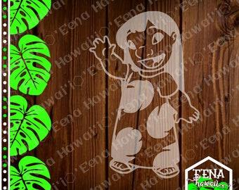 Waving Lilo | Lilo Decal | Lilo and Stitch | Car Window Sticker | Flask Sticker | Car Decal | Phone Decal