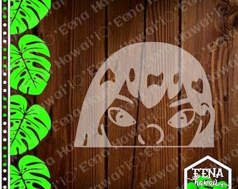 Peek a Boo Decal | Lilo | Angry Lilo Decal | Peek a Boo Lilo | Car Window Sticker | Flask Sticker | Car Decal | Phone Decal