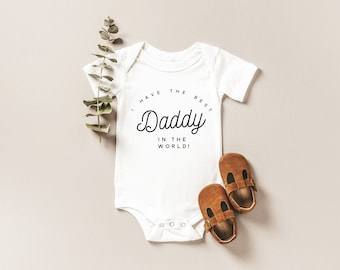 Best Daddy In The World, I Love My Daddy, Bodysuit, Baby outfit, Baby One piece, Coming home out fit, Baby, Pregnancy Announcement, Baby