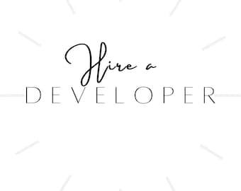 Hire a Developer - 30 Minutes Time Slot   Website Maintenance   Customise WordPress or Shopify Theme   Website Update   Website Support