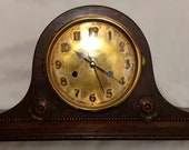 Beautiful Antique NELSONS HAT Mantel Clock Case with Vintage WESTMINSTER Chime Quartz Movt
