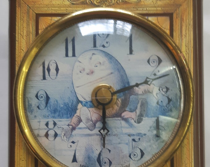 Featured listing image: Vintage (1970's) Roger Lascelles STORY OF ALICE Clock/ Tea Caddy