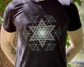 HyperHexagram Mandala - Sacred Geometry Kabbalah T-Shirt for Men