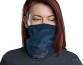 Breathe (Midnight) - Washable Cloth Face Covering / Neck Gaiter / Face Mask in Navy Blue for Men & Women