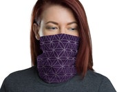 Flower of Life (Violet) - Washable Cloth Face Covering / Neck Gaiter / Face Mask for Men & Women