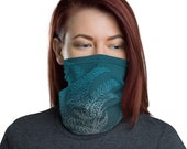 Breathe (Teal) - Washable Cloth Face Covering / Neck Gaiter / Face Mask in Teal Blue for Men & Women