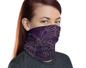 Transform Reflection (Violet) - Washable Cloth Face Covering / Neck Gaiter / Face Mask for Men & Women