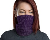 Cubic Roots (Violet) - Washable Cloth Face Covering / Neck Gaiter / Face Mask for Men & Women