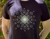 HyperOctogram Mandala - Sacred Geometry Kabbalah T-Shirt for Men