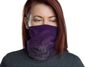 Breathe (Violet) - Washable Cloth Face Covering / Neck Gaiter / Face Mask for Men & Women