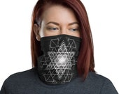 HyperHexagram Mask - Washable Cloth Face Covering / Neck Gaiter / Face Mask for Men & Women