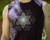 HyperHexagram Mandala - Sacred Geometry Kabbalah Muscle Shirt for Men