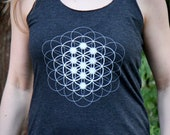 Seed, Flower & Tree of Life - Sacred Geometry Racerback Tank for Women