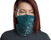 Transform (Teal) - Washable Cloth Face Covering / Neck Gaiter / Face Mask in Teal Blue for Men & Women