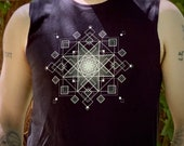 HyperOctogram Mandala - Sacred Geometry Muscle Shirt for Men