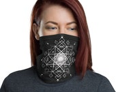 HyperOctogram Mask - Washable Cloth Face Covering / Neck Gaiter / Face Mask for Men & Women