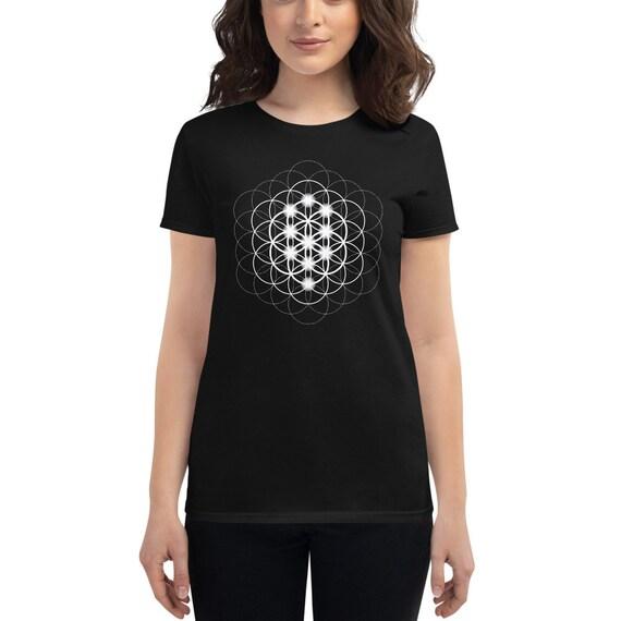 Seed, Flower & Tree of Life - Sacred Geometry Kabbalah Shirt for Women