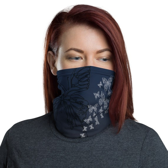 Transform (Midnight) - Washable Cloth Face Covering / Neck Gaiter / Face Mask in Navy Blue for Men & Women