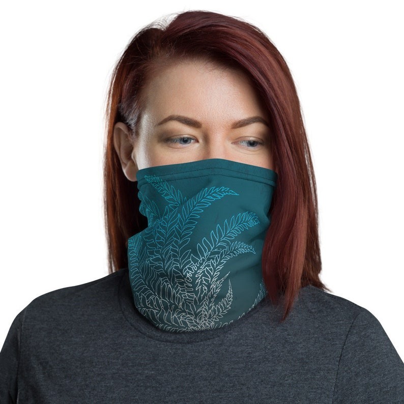 Breathe Teal  Washable Cloth Face Covering / Neck Gaiter / image 0
