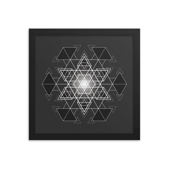 HyperHexagram - Sacred Geometry Framed Artwork