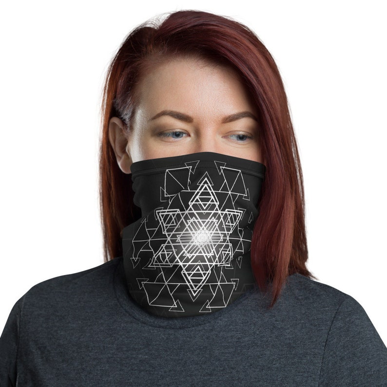 HyperHexagram Mask  Washable Cloth Face Covering / Neck image 0