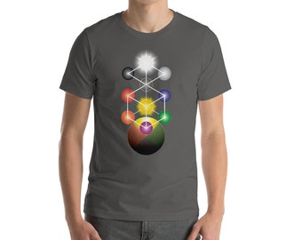 Kabbalah Adytum - Tree of Life Sacred Geometry Shirt for Men
