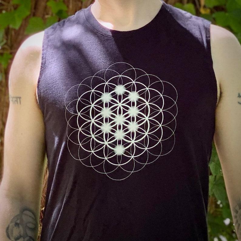 Seed Flower & Tree Mandala  Sacred Geometry Kabbalah Muscle image 0
