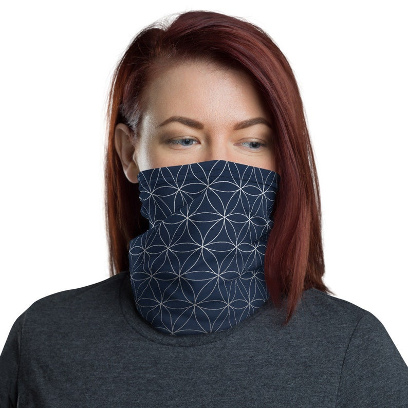 Flower of Life Midnight  Washable Cloth Face Covering / image 0