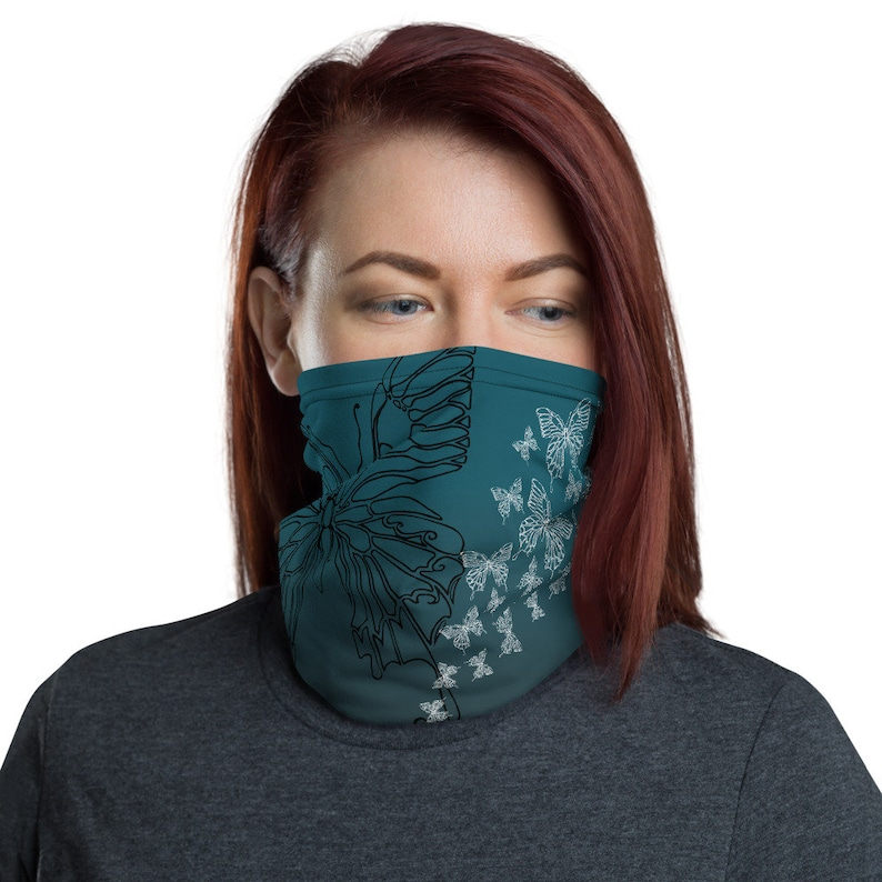 Transform Teal  Washable Cloth Face Covering / Neck Gaiter image 0
