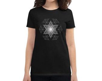 HyperHexagram Mandala - Sacred Geometry Kabbalah T-Shirt for Women