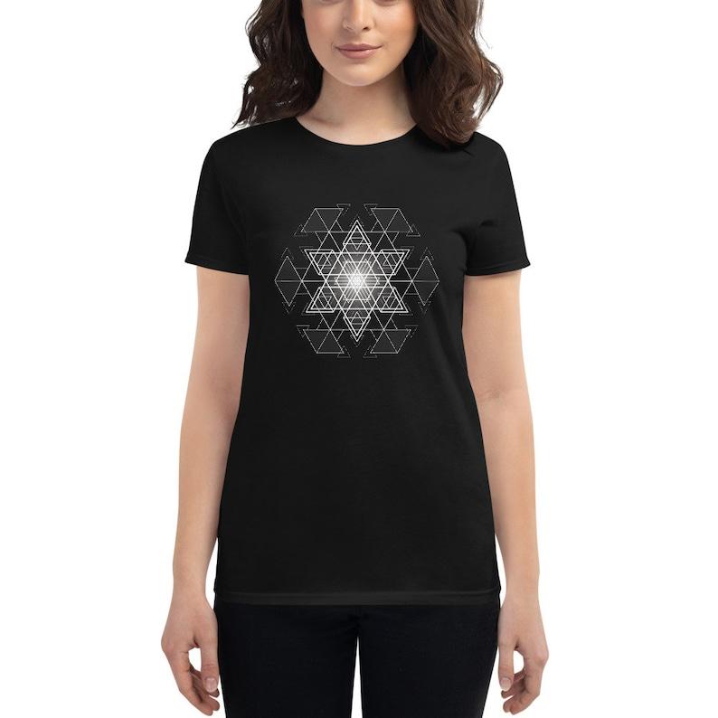 HyperHexagram Mandala  Sacred Geometry Kabbalah T-Shirt for image 0