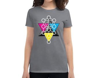 Tetrahedron Tree of Life - Sacred Geometry Kabbalah Shirt for Women