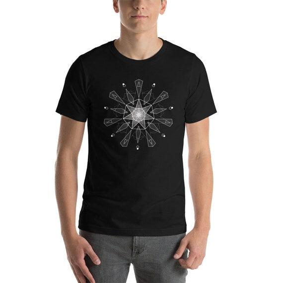 HyperHeptagram Mandala - Sacred Geometry Kabbalah T-Shirt for Men