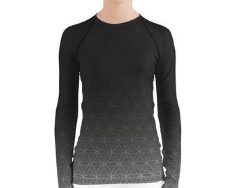 Fading Flower of Life - Sacred Geometry Long-Sleeve Shirt for Women