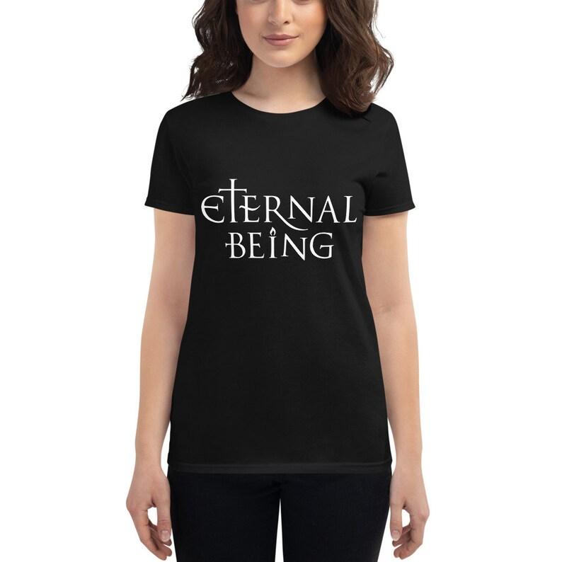 Eternal Being light  Esoteric Spiritual Shirt for Women Black