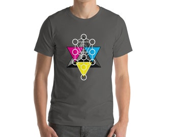 Tetrahedron Tree of Life - Sacred Geometry Kabbalah Shirt for Men