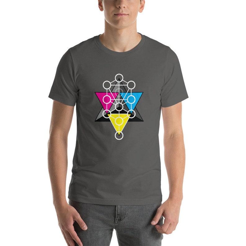 Tetrahedron Tree of Life  Sacred Geometry Kabbalah Shirt for Asphalt