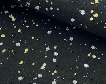 """Leather Sheets 8x12"""" Black/Metallic Silver/Gold Paint Splash - Genuine Suede Leather 1.0//1.2MM"""