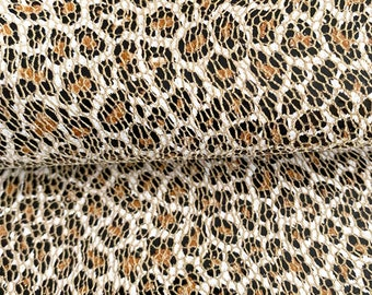 """Leather Sheets 8x12"""" Mosaic Leopard Print Genuine Leather 1.0-1.2MM"""