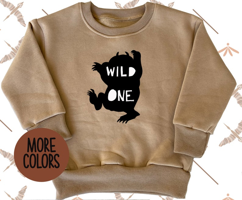 hoodie baby girl and baby boy cozy pullover WILD ONE Cozy Warm Pullover Baby unisex pullover