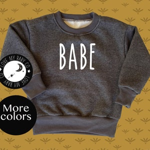Baby unisex pullover LITTLE SISTER Bae Cozy Warm Pullover hoodie baby girl and baby boy cozy pullover