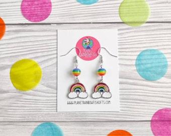 Rainbow Earrings   Pride Accessories   Positivity Gifts   LGBTQ Gifts   Rainbow Gifts   Rainbow Jewellery