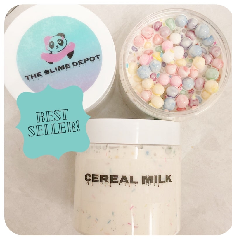 Cereal Milk Slime  thick and glossy slime  scented  floam  image 0