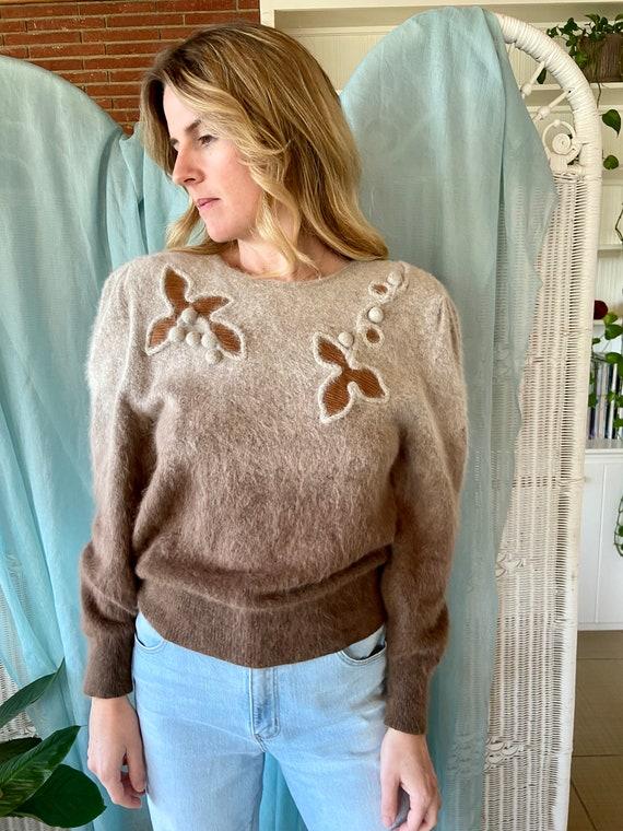 Vintage Ombre Angora Sweater